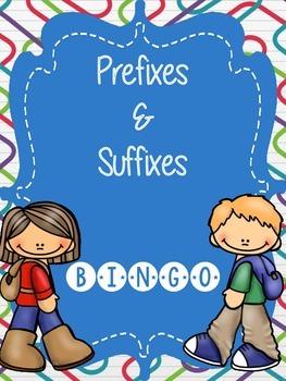 Prefixes and Suffixes Bingo