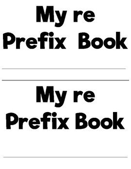 Prefixes and Suffixes Flip Book