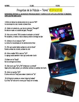 Spanish Movie Viewing Guide Preguntas de la Pelicula Home