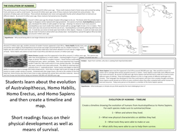 Prehistory - Human Evolution - Booklet