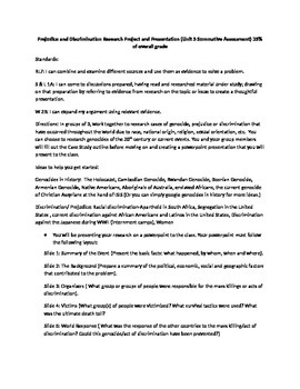 Prejudice and Discrimination Psychology Project (common co