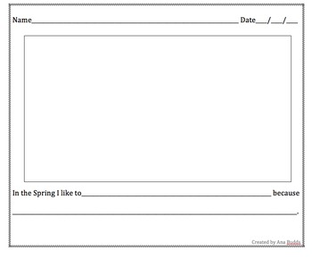 Prek ,K , first and second grade Spring writing activity