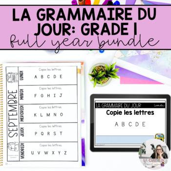 Première année: la correction du jour (French writing mini