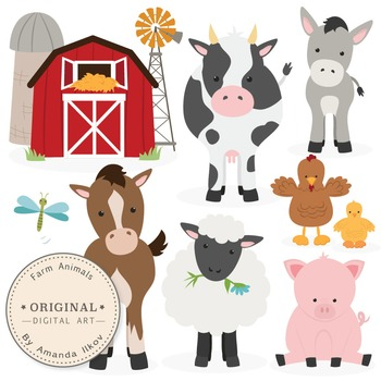 Premium Farm Animals Clip Art & Vectors - Farm Animals Cli