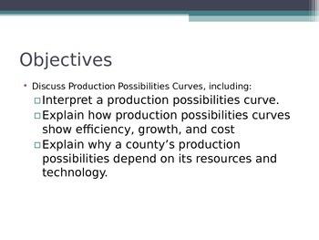 Prentice Hall Economics Ch 1 Sec 3 Production Possibilitie