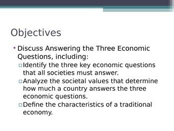Prentice Hall Economics Ch 2 Sec 1 Answering the Three 3 E