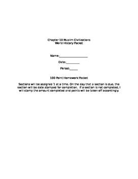 Prentice Hall World History Chapter 10 Muslim Civilization