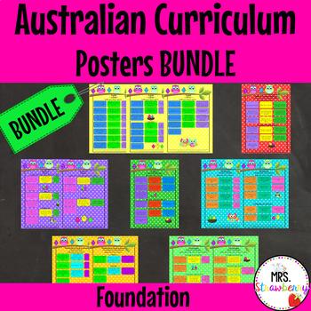 Foundation Australian Curriculum Poster Bundle