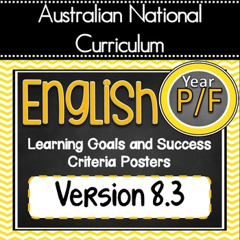Version 8.3 Prep/Foundation All English Learning Goals & S
