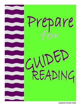 Prepare for Guided Reading Recording Sheet