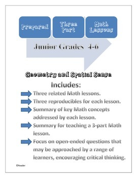 Prepared Three-Part Math Lessons: Geometry and Spatial Sense