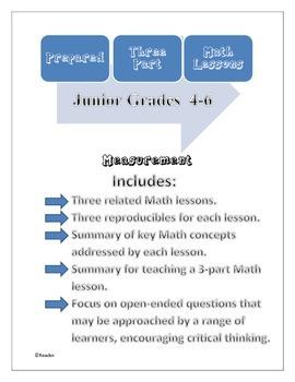Prepared Three-Part Math Lessons: Measurement