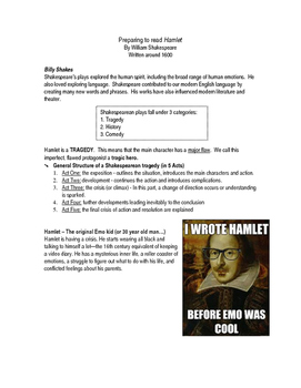 Preparing to Read Hamlet