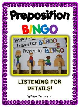 Preposition BINGO {Prepositions and Listening for Details}