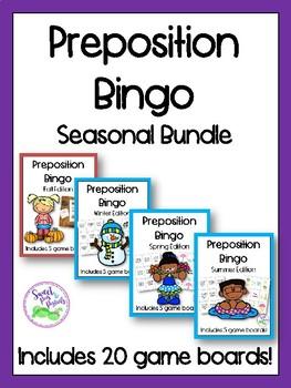 Preposition Bingo Seasonal Bundle