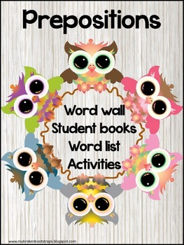 Preposition Book and Word Wall