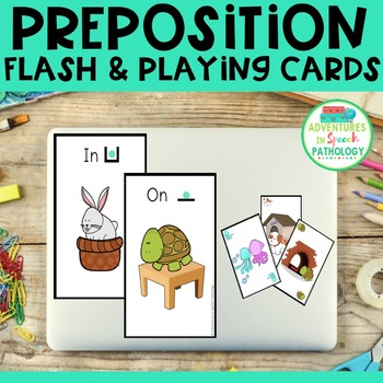 Preposition Concepts: Playing & Flash Cards