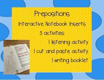Preposition Interactive Notebook Inserts