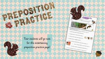 Preposition Practice Handout