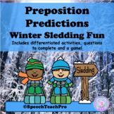 Preposition Predictions: Winter Sledding Fun