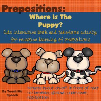 Preposition Puppy: interactive book and printouts