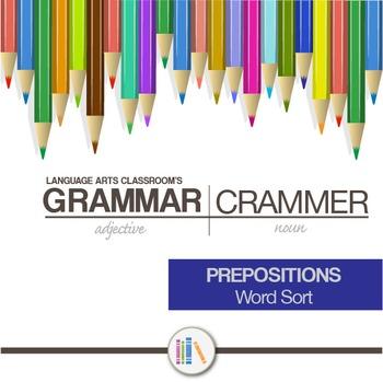 Preposition Word Sort
