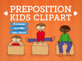 Preposition kid clip art