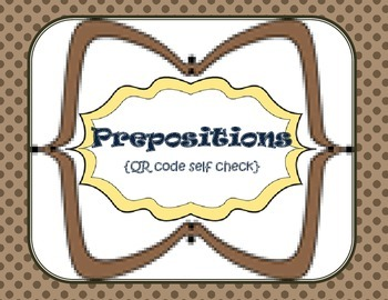 Preposition {self check with QR codes}