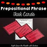 Prepositional Phrase Task Cards {Common Core Aligned}
