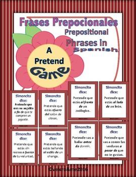 Prepositional Phrases Pretend Game in Spanish