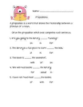Prepositional Words