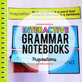 Grammar, Parts of Speech, Prepositions Interactive Notebook
