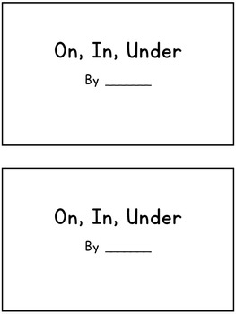 Prepositions Book: On, In, Under (Interactive ESL book - 1