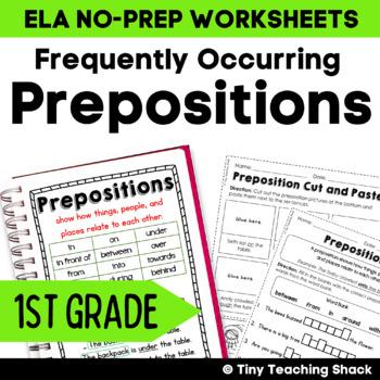 Prepositions Common Core Practice Sheets L.1.1.I