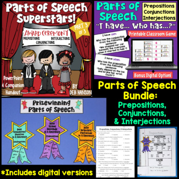 Prepositions, Conjunctions and Interjections BUNDLE