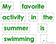 Prepositions Cut and Paste Activities with sentence buildi