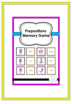Prepositions Memory Game