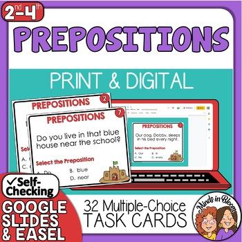 Prepositions task cards -beginning set