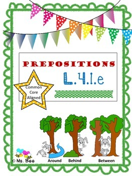 Prepositions: Teach, Practice, & Write by Janet Burgeson