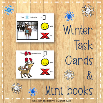 Prepositions: Top, middle, bottom in a Winter Wonder Land