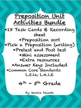 Prepositions Unit Activities Bundle