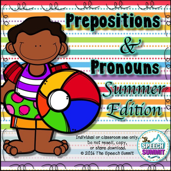 Prepositions and Pronouns {Summer Edition}