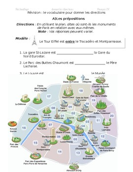 Prepositions/directions