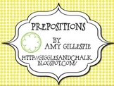 Prepositions: master/student list freebie