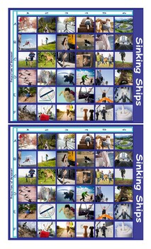 Prepositions of Movement with Photos Battleship Board Game