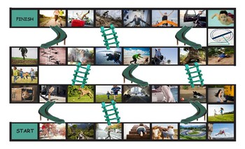 Prepositions of Movement with Photos Chutes and Ladders Bo