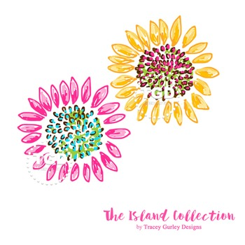 Preppy Sunflowers clip art - Tracey Gurley Designs
