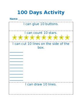 Preschool 100 Days