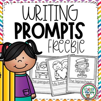 Preschool Writing Prompts (Jan, Feb, March) FREEBIE