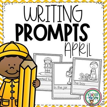 April Writing Prompts {PRESCHOOL}